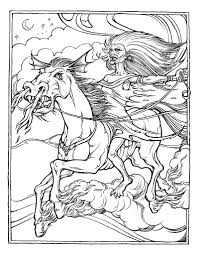 Advanced Coloring Pages Print Free Printable Horse For Adults Sheets Pdf Full Size