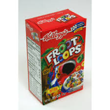 KelloggsR Froot LoopsR Cereal Box