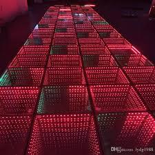 2018 3d magic tile light led stage tile light abyss tile wedding