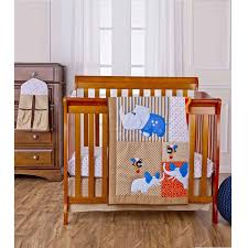 Winnie The Pooh Nursery Bedding by Dream On Me Jungle Babies 4 Piece Reversible Portable Crib Bedding