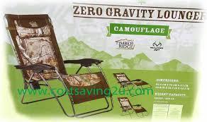 Timber Ridge Folding Lounge Chair by Timber Ridge Zero Gravity Camouflage Lounger Chair New 2014