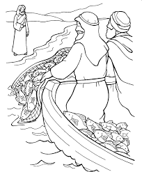 Coloring Pages Jesus Calls Disciples For Kids Fisherman Catching
