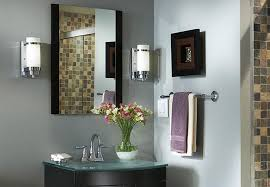 lighting ideas bathroom vanity with lights from one light chrome