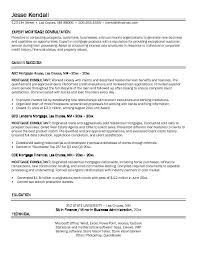Example Mortgage Consultant Resume Free Sample