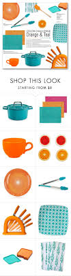Orange Teal Kitchen Accessories By Kellylynne68 Liked On Polyvore Featuring Interior