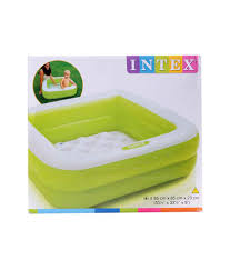 Inflatable Bathtub For Adults Online India by Intex Play Box Green Pool 3 Ft Buy Intex Play Box Green Pool