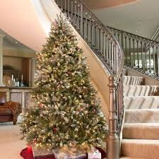 9 Ft Artificial Christmas Tree Snowy Full Lit The Holidays Just Regarding Best Deals On