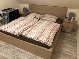 ikea malm bett mit schubladen nachttisch 180x200 schlafzimmer