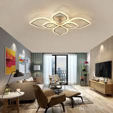 großhandel moderne minimalistische led deckenleuchte wohnzimmer schlafzimmer haus mode deckenleuchte kreative persönlichkeit acryl welle deckenleuchte