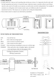 Avion Ceiling Fan Manual by Ce9601 Ceiling Fan Remote Control Transmitter User Manual Chungear