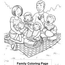 Lovely Vacation With My Family Coloring Page