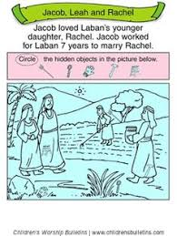 Sunday School Activity About Leah Rachel For Ages