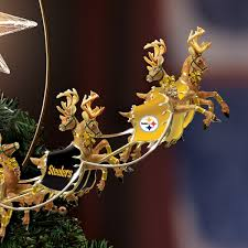 NFL Licensed Pittsburgh Steelers Lighted Christmas Tree Topper Holiday Pride By The Bradford Exchange Amazonin Home Kitchen