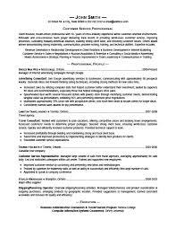 Customer Service Professional Resume