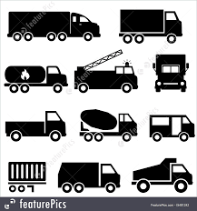 Trucks And Transportation Icon Set Stock Illustration I5491242 At ...
