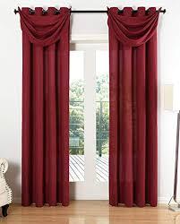 gardinenbox vorhang set blickdicht schal ösen microsatin segeltuch querbehang lichtdurchlässig deko wohnzimmer hxb 245x140 cm bordeaux 20405s4