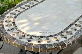 OUTDOOR DINING TABLE OVAL MARBLE MOSAIC GARDEN PATIO TABLE 71