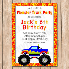 Fire Monster Truck Birthday Invitation Choose Your Favorite Mr Vs 3rd Monster Truck Birthday Party Part Ii The Fun And Cake Monster Truck Food Labels Mrruck_party_invitions_mplatesjpg Unique Free Printable Grave Digger Invitations Gallery Marvelous Ideas At In A Box Cool Blue Card Truck Birthday Blaze The Machine Invitation On Design Of Jam Ticket Style Personalized 599 Sophisticated Photo Christmas Card