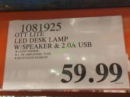 ott lite led desk l with speaker 2 0a usb costcochaser