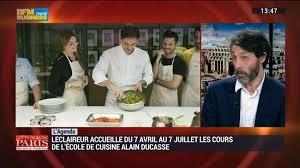 ecole ducasse cours cuisine l agenda l eclaireur accueille les cours de cuisine alain ducasse