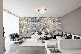 modernes schlafzimmer grau design tapeten in silber grau