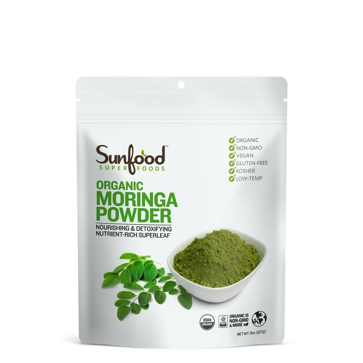 Sunfood Organic Raw Moringa Powder - 8oz