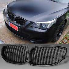 1 Pair of Front Black Kidney Grille Grill for BMW E60 E61 5 Series