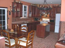 cabinet kitchens with brick floors brick pavers in kitchen