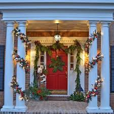 Outdoor Christmas Decorating Ideas Front Porch by 597 Best Christmas On The Porch Images On Pinterest Christmas