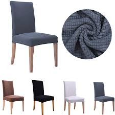 LFH Knit Stretch Dining Room Chair Cover Slipcover Washable For Restaurant Weddings Banquet Hotel Fundas De Sillas