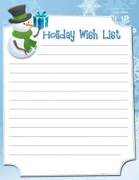 Printable Holiday Wish Lists List 1 TemplateFree Coloring PagesHoliday WishesChristmas