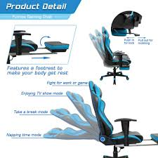 Reclining Gaming Chair With Footrest by Amazon Com Furmax Gaming Chair High Back Racing Chair Ergonomic