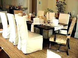White Dining Room Chair Covers Cotton