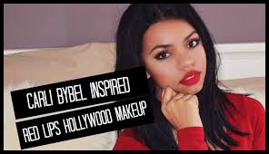 Carli Bybel Halloween by Red Lips Hollywood Makeup Carli Bybel Inspired Youtube