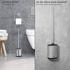 toilettenbürste silikon set mit edelstahl halterung