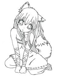 Kawaii Girl Colouring Pages Girls Coloring Draw A Simple An Anime Kids Boys