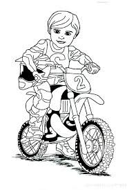 Dirt Bike Rider Coloring Pages Periodic Tables