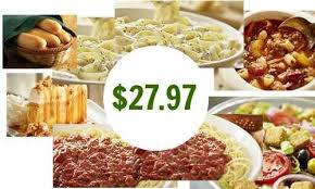 Olive Garden 4 Entrees Sides & Dessert for $28 Southern Savers