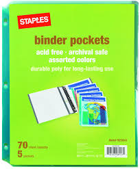 Staples File Cabinet Dividers by Amazon Com Staples Divider Pockets 3 Hole Punched 5 Set