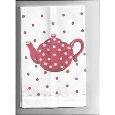 Allen G Designs Spotted Kettle Kitchen Bathroom Guest Towel