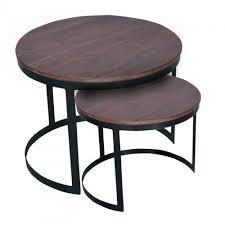 couchtisch 2er set beistelltisch wohnzimmer tisch rund metall gestell altsilber o schwarz braun bassano