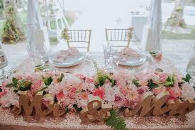 Kukua Beach Club Sweetheart Table Decor For A Wedding In Punta Cana DR