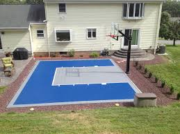 Download Basketball Court Cost | Garden Design Outdoor Courts For Sport Backyard Basketball Court Gym Floors 6 Reasons To Install A Synlawn Design Enchanting Flooring Backyards Winsome Surfaces And Paint 50 Quecasita Download Cost Garden Splendid A 123 Installation Large Patio Turned System Photo Album Fascating Paver Yard Decor Ideas Building The At The American Center Youtube With Images On And Commercial Facilities