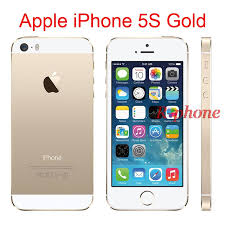 Original 4G iPhone 5S Gold Mobile Phone Dual Core 4