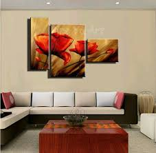 Merry 3 Piece Framed Wall Art Together With Designs Discount Abstract Modern Canvas Cheap Handmade Red Poppy Floral Oil Painting On For Living Room Home