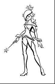 Outstanding Princess Rosalina Coloring Pages With Peach And