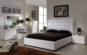 Black Leather Headboard Queen by Bedroom Killer Image Of Classy Bedroom Furniture Decoration With
