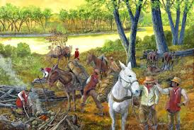 Denver International Airport Murals Horse by Mules And Horses U2013 Old Santa Fe Trail Painting For The National