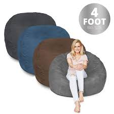 Amazon.com: Bean Bag Chair | 4 Foot & Red | Microsuede Cover Machine ... Amazoncom Jaxx Nimbus Spandex Bean Bag Chair For Kids Fniture Creative Qt Stuffed Animal Storage Large Beanbag Chairs Stockists Best For Online Purchase Snorlax Sizes Pink Unique Your Residence Inspiration Childrens Bean Bag Chairs Ikea Empriendoclub Sofa Sack Plush Ultra Soft Memory Posh Stuffable Ultimate Giant Foam