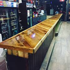 Inspiring Bar Tops Ideas Pictures - Best Idea Home Design ... Beech Wood Kitchen Island Holly Waight Designs Penny Table 4 Steps With Pictures Bottle Cap Bar Top Album On Imgur Glass Epoxy Resin Table And Fnitures Buy Good Beautiful Crystal Clear Glaze Coat How To Coating For Tabletop Bar Ideas Amazing Cool Thelostcardsfile Man Cave Update Shop Famowood 32oz Gloss Oilbased Lacquer At Lowescom Pro Cstruction Forum Be The With Poured Surface 9 To Deal Seams Copper Sheets Blog